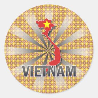 Vietnam Flag Map 2.0 Classic Round Sticker