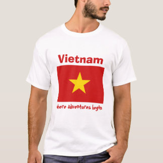 Vietnam Flag + Map + Text T-Shirt