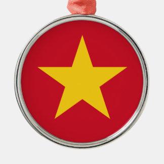 Vietnam Flag Metal Ornament