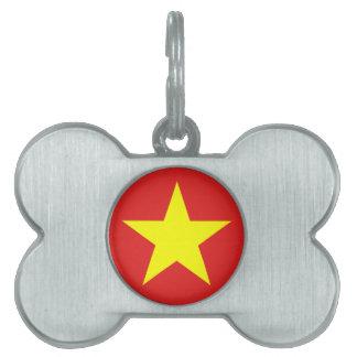 Vietnam Flag - Pet Tag