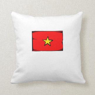 Vietnam Flag Throw Pillows