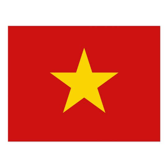 Vietnam Flag Postcard