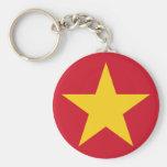 Vietnam Flag Shirt Basic Round Button Keychain