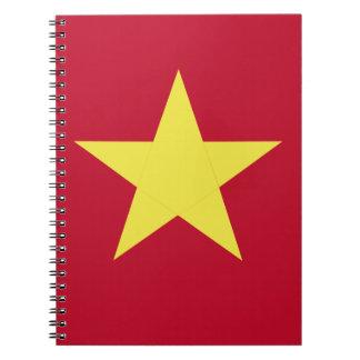 Vietnam flag spiral notebook
