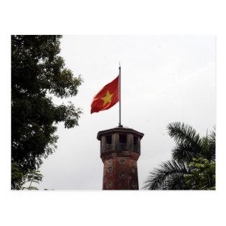 vietnam flag tower postcard