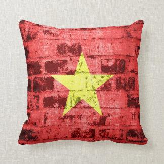 Vietnam Flag Vintage Pillows