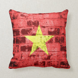 red flag with yellow star pillows - decorative & throw pillows | zazzle