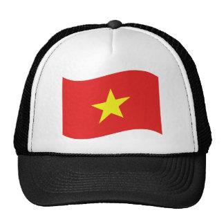Vietnam Flag Wave Trucker Hat