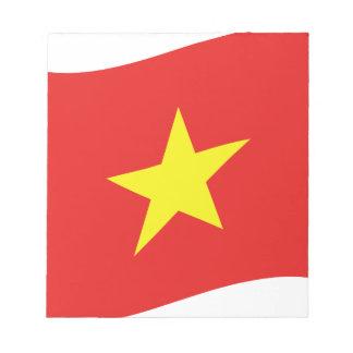 Vietnam Flag Wave Notepad