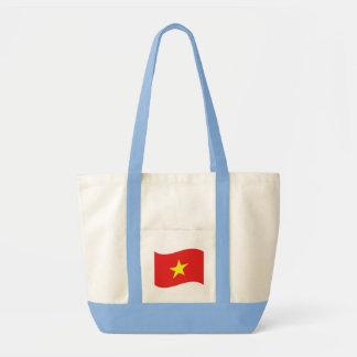 Vietnam Flag Wave Tote Bag
