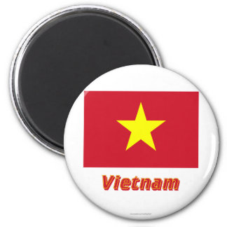 Vietnam Flag with Name Magnet