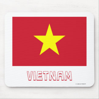 Vietnam Flag with Name Mouse Pad