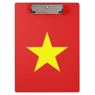 Vietnam Flag - Yellow Star - Clipboard