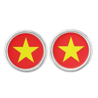 Vietnam Flag - Yellow Star - Cufflinks
