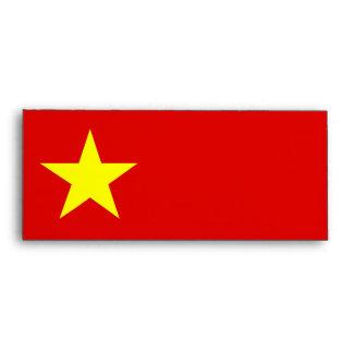 Vietnam Flag - Yellow Star - Envelope