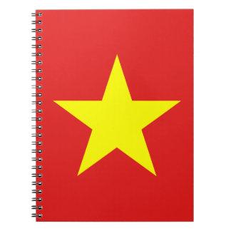 Vietnam Flag - Yellow Star - Notebook