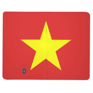 Vietnam Flag - Yellow Star - Pocket Journal