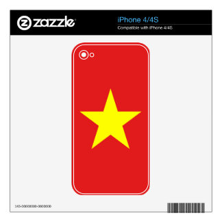Vietnam Flag Yellow Star Skin Skins For The iPhone 4