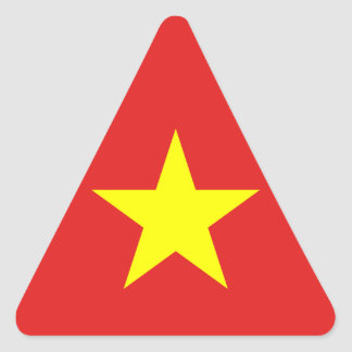 Vietnam Flag - Yellow Star - Triangle Sticker