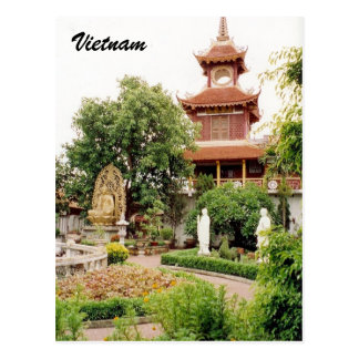 vietnam garden postcard