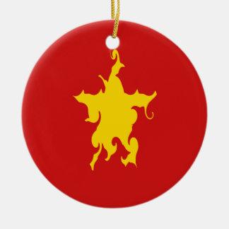 Vietnam Gnarly Flag Ceramic Ornament