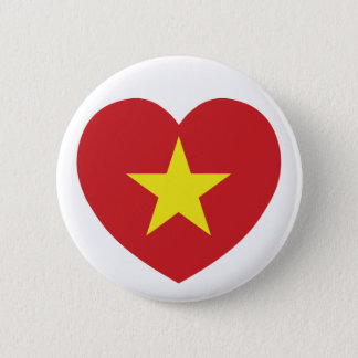 Vietnam Heart Flag Button
