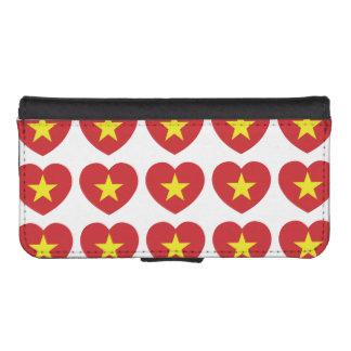 Vietnam Heart Flag iPhone SE/5/5s Wallet