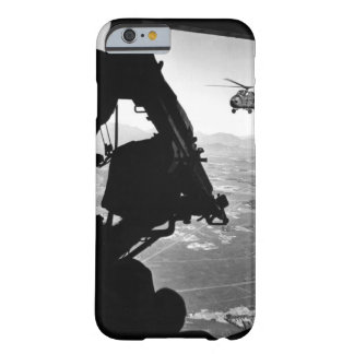Vietnam:  helicopter and soldier approaching targe barely there iPhone 6 case