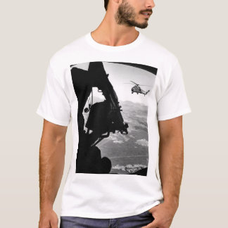 Vietnam:  helicopter and soldier approaching targe T-Shirt