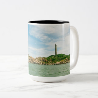 Vietnam Highest Oldest Lighthouse Two-Tone Mug