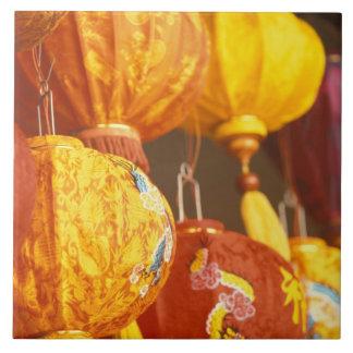 Vietnam, Hoi linternas grandes, recuerdos Azulejo Cuadrado Grande