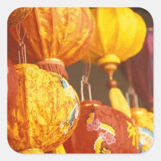 Vietnam, Hoi linternas grandes, recuerdos Pegatina Cuadrada