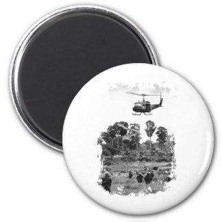 Vietnam Huey Landing 2 Inch Round Magnet
