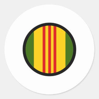 Vietnam Insignia Classic Round Sticker
