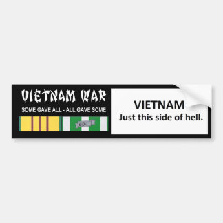 VIETNAM - JUST THIS SIDE OF HELL BUMPER STICKERS