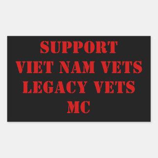 Vietnam/la herencia rojos y negros revisa la bujía pegatina rectangular