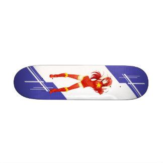 Vietnam Manga girl dressed in Flag - Vietnamese Skate Board Decks