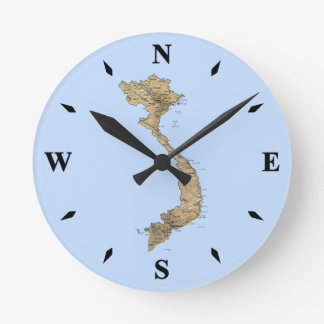 Vietnam Map Clock