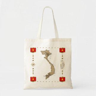 Vietnam Map + Flags Bag