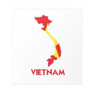 VIETNAM MAP NOTEPAD