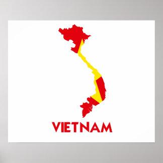 VIETNAM MAP POSTERS