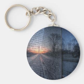 Vietnam Memorial Dawn Basic Round Button Keychain
