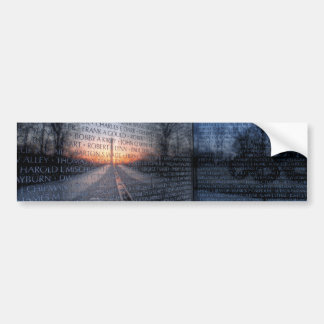 Vietnam Memorial Dawn Car Bumper Sticker