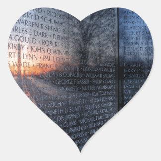 Vietnam Memorial Dawn Heart Sticker