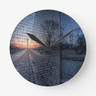 Vietnam Memorial Dawn Round Clock