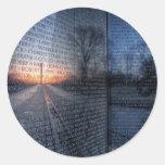 Vietnam Memorial Dawn Round Sticker