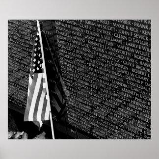Vietnam Memorial Flag Poster