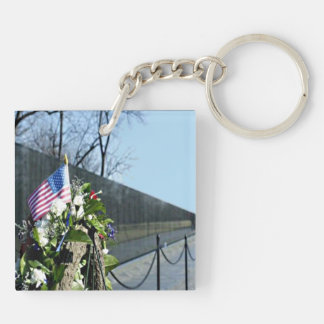 Vietnam Memorial keychain square double-sided
