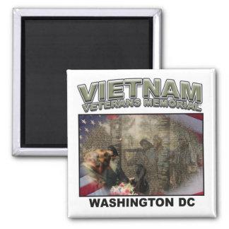 Vietnam Memorial 2 Inch Square Magnet