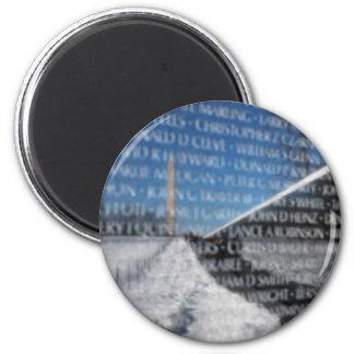 Vietnam Memorial Wall 2 Inch Round Magnet